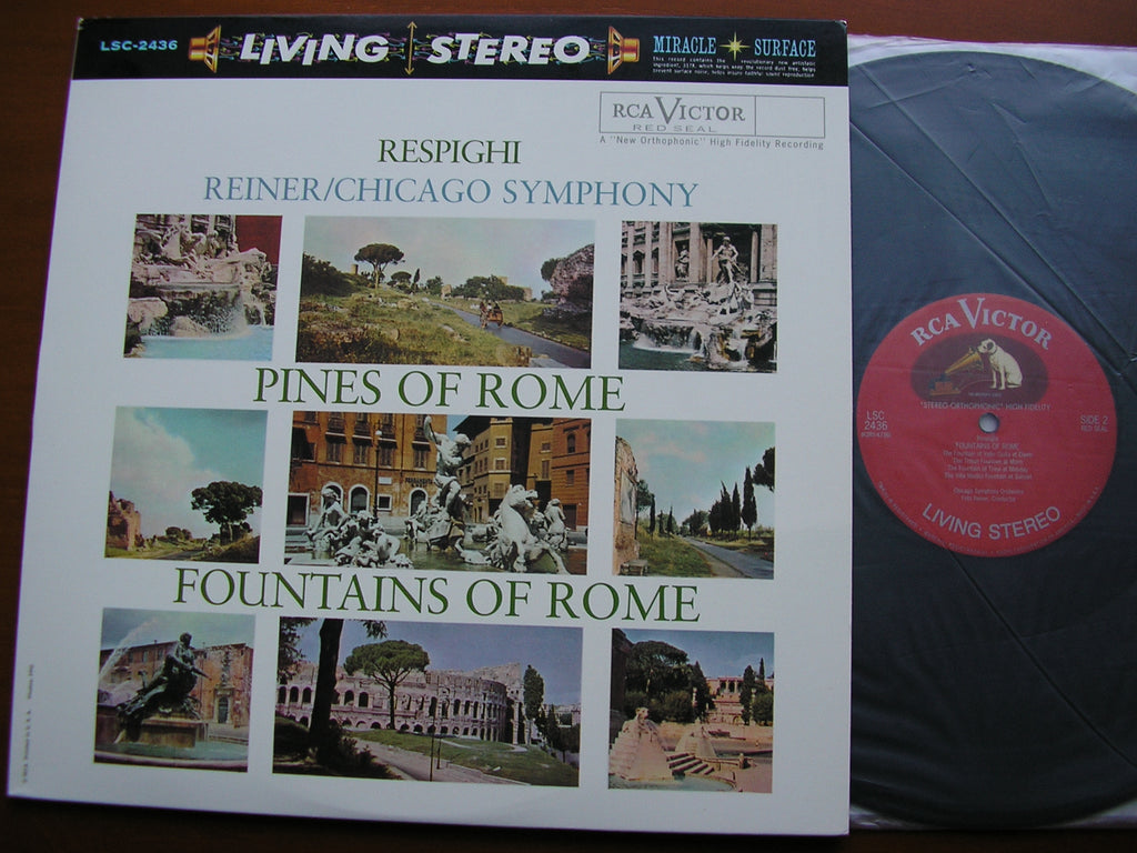 RESPIGHI: PINES OF ROME / FOUNTAINS OF ROME    REINER / CHICAGO SYMPHONY  CLASSIC RECORDS LSC 2436