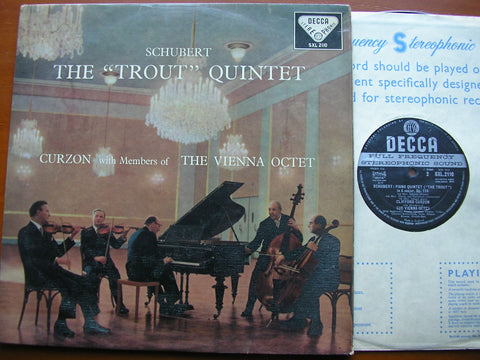 SCHUBERT: PIANO QUINTET in A 'The Trout'    CURZON / MEMBERS of THE VIENNA OCTET    SXL 2110