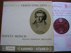 BEETHOVEN: VIOLIN CONCERTO    HEIFETZ / BOSTON SYMPHONY / MUNCH   SB 2047*
