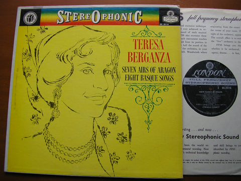 TERESA BERGANZA SINGS SEVEN AIRS OF ARAGON / EIGHT BASQUE SONGS   SYMPHONY ORCHESTRA / GERARD GOMBAU    OS 25116