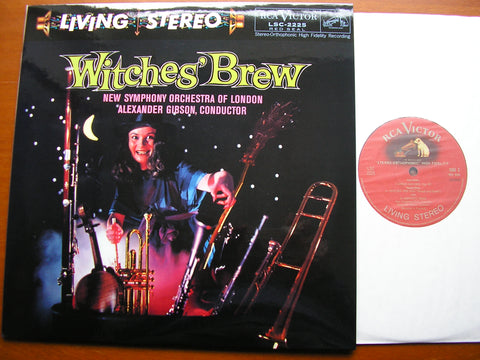 WITCHES' BREW: ORCHESTRAL WORKS BY MUSSORGSKY / ARNOLD / SAINT-SAENS / HUMPERDINCK / LISZT    GIBSON / NEW SYMPHONY ORCHESTRA    LSC 2225