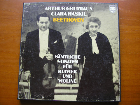 BEETHOVEN: THE COMPLETE SONATAS FOR VIOLIN & PIANO     GRUMIAUX / HASKIL   4LP   6733 001