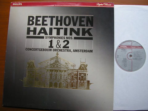 BEETHOVEN: SYMPHONIES Nos. 1 & 2   HAITINK / CONCERTGEBOUW AMSTERDAM   420 537