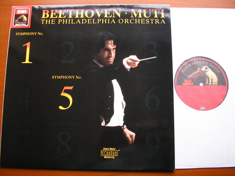 BEETHOVEN: SYMPHONIES Nos. 1 & 5    MUTI / PHILHADELPHIA ORCHESTRA   27 0449