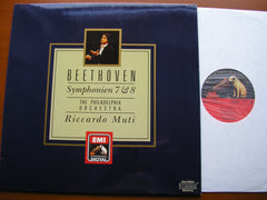BEETHOVEN: SYMPHONIES Nos. 7 & 8    MUTI / PHILADELPHIA ORCHESTRA   7 49492