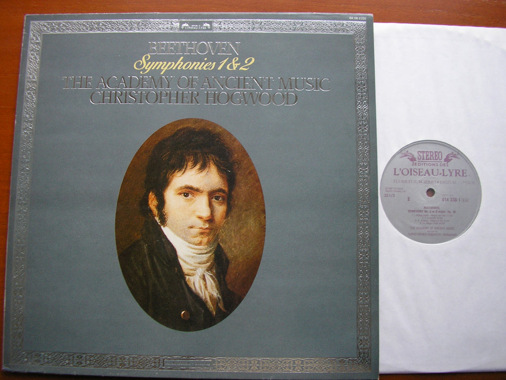 BEETHOVEN: SYMPHONIES Nos. 1 & 2    HOGWOOD / ACADEMY OF ANCIENT MUSIC   414 338
