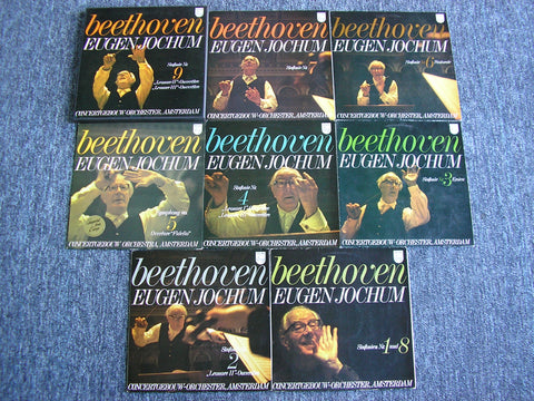 BEETHOVEN: THE SYMPHONIES / FOUR OVERTURES    JOCHUM / CONCERTGEBOUW ORCHESTRA AMSTERDAM   9 LP