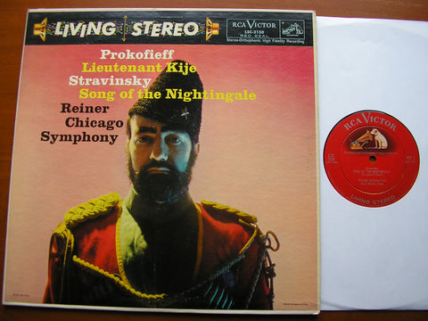 PROKOFIEV: LIEUTENANT KIJE / STRAVINSKY: SONG OF THE NIGHTINGALE   REINER / CHICAGO SYMPHONY   LSC 2150