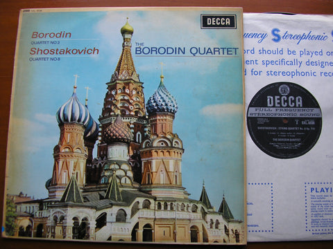 BORODIN: STRING QUARTET No. 2 / SHOSTAKOVICH: STRING QUARTET No. 8   BORODIN QUARTET   SXL 6036
