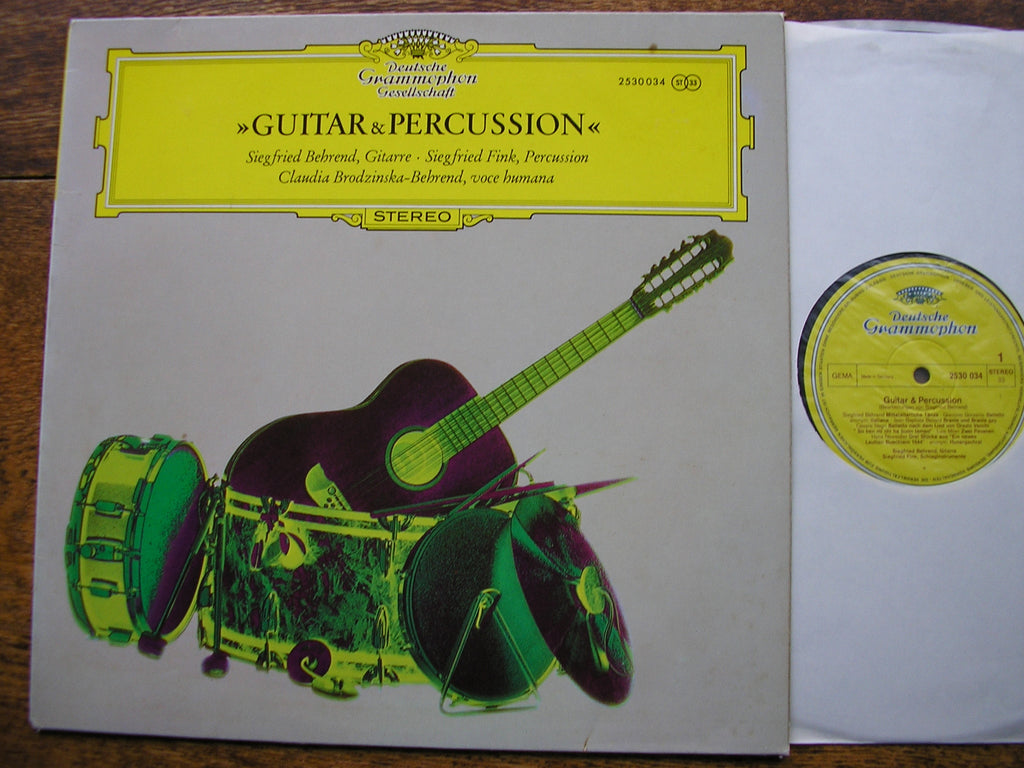 GUITAR & PERCUSSION: MUSIC OF THE 16th & 20th CENTURIES   SIEGFRIED BEHREND / SIEGFRIED FINK   2530 034