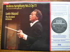 BRAHMS: THE FOUR SYMPHONIES / OVERTURES / HAYDN VARIATIONS   MAAZEL / CLEVELAND ORCHESTRA   4 LP