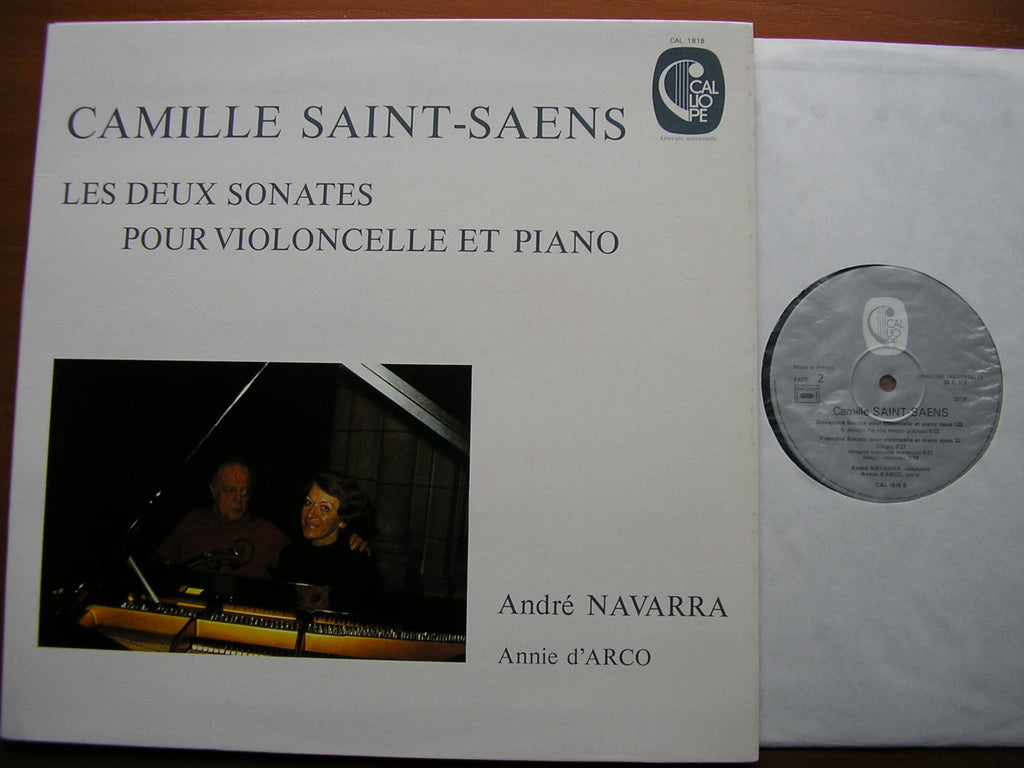 SAINT - SAENS: THE TWO SONATAS FOR CELLO & PIANO    NAVARRA / ANNIE D'ARCO    CAL 1818