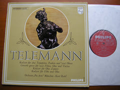 TELEMANN: CONCERTOS FOR TWO TRUMPETS / OBOE D'AMORE / FLUTE & OBOE / CONCERTO GROSSO    REDEL / PRO ARTE MUNICH    835 750