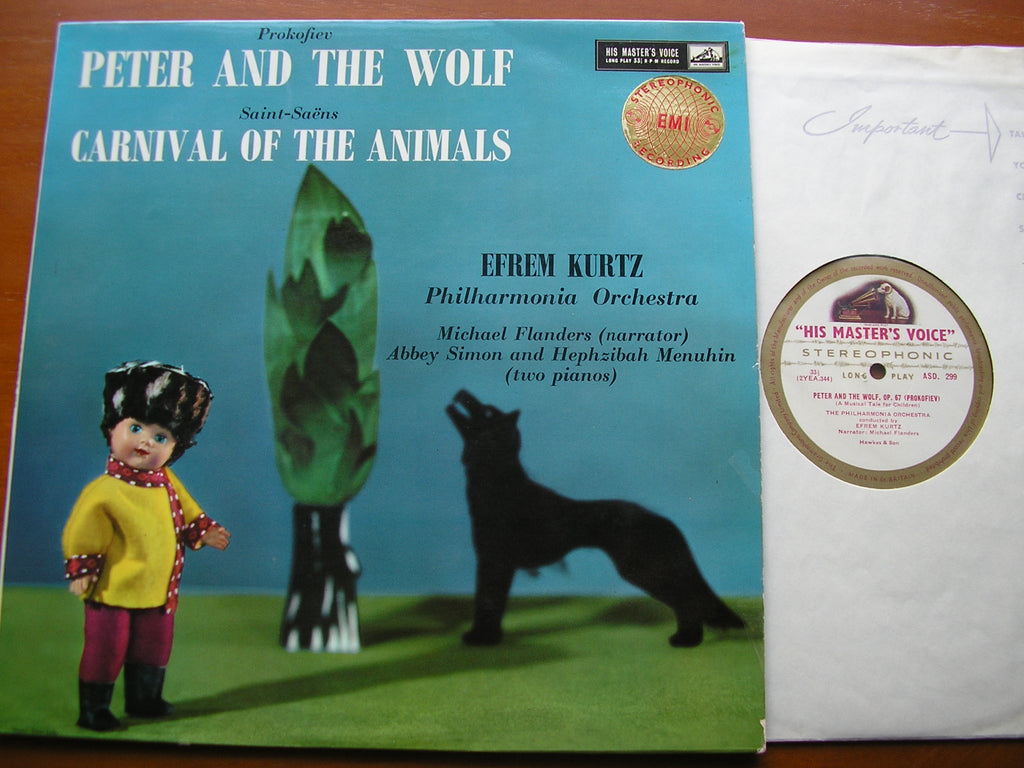 PROKOFIEV: PETER & THE WOLF / SAINT-SAENS: CARNIVAL OF THE ANIMALS    KURTZ / PHILHARMONIA    ASD 299