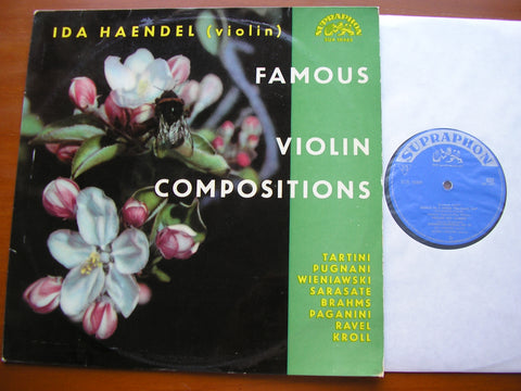 IDA HAENDEL PLAYS FAMOUS VIOLIN COMPOSITIONS    HAENDEL / HOLECEK    SUA 10465