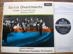 BARTOK: DIVERTIMENTO  FOR STRINGS / VIVALDI: CONCERTI GROSSI Nos. 11 & 12   BARSHAI / MOSCOW CO  SXL 6026