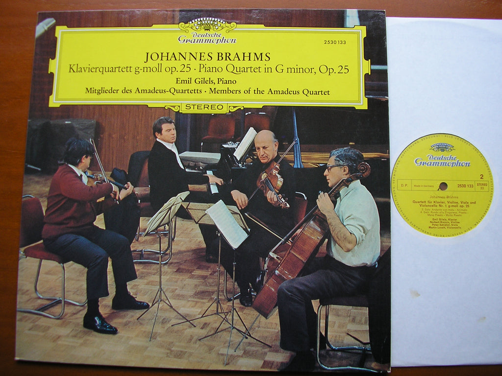 BRAHMS: PIANO QUARTET Op. 25     GILELS / MEMBERS OF THE AMADEUS QUARTET   2530 133