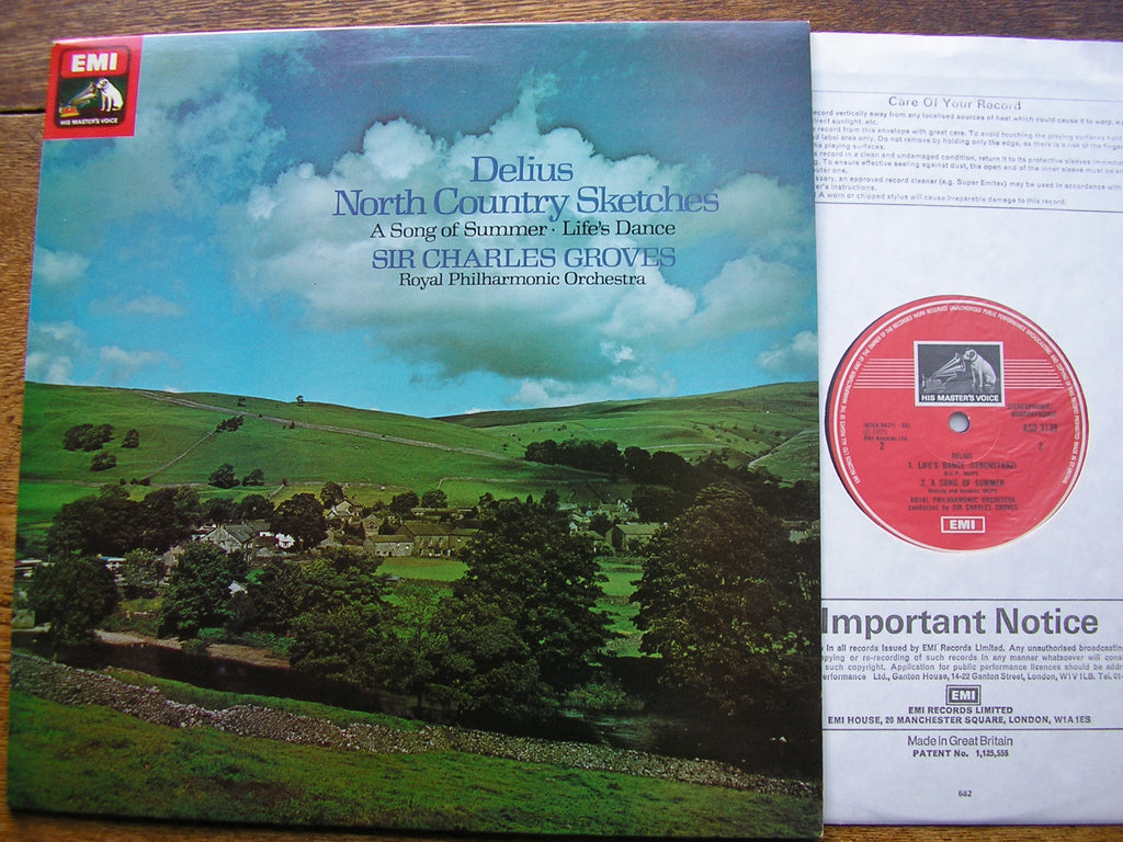 DELIUS: NORTH COUNTRY SKETCHES / A SONG OF SUMMER   GROVES / ROYAL PHILHARMONIC  ASD 3139