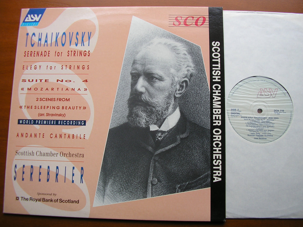 TCHAIKOVSKY: SERENADE FOR STRINGS / MOZARTIANA / ELEGY     SEREBRIER / SCOTTISH CHAMBER ORCHESTRA   DCA 719