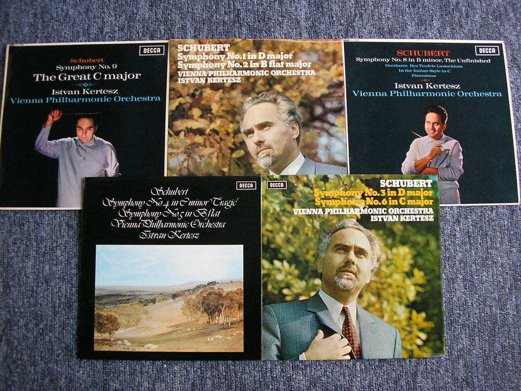 SCHUBERT: THE SYMPHONIES / THREE OVERTURES   KERTESZ / VIENNA PHILHARMONIC   5 LP SET