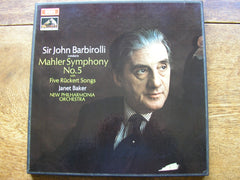 MAHLER: SYMPHONY No. 5 / RUCKERT SONGS   BAKER / NEW PHILHARMONIA ORCHESTRA / BARBIROLLI   SLS 785