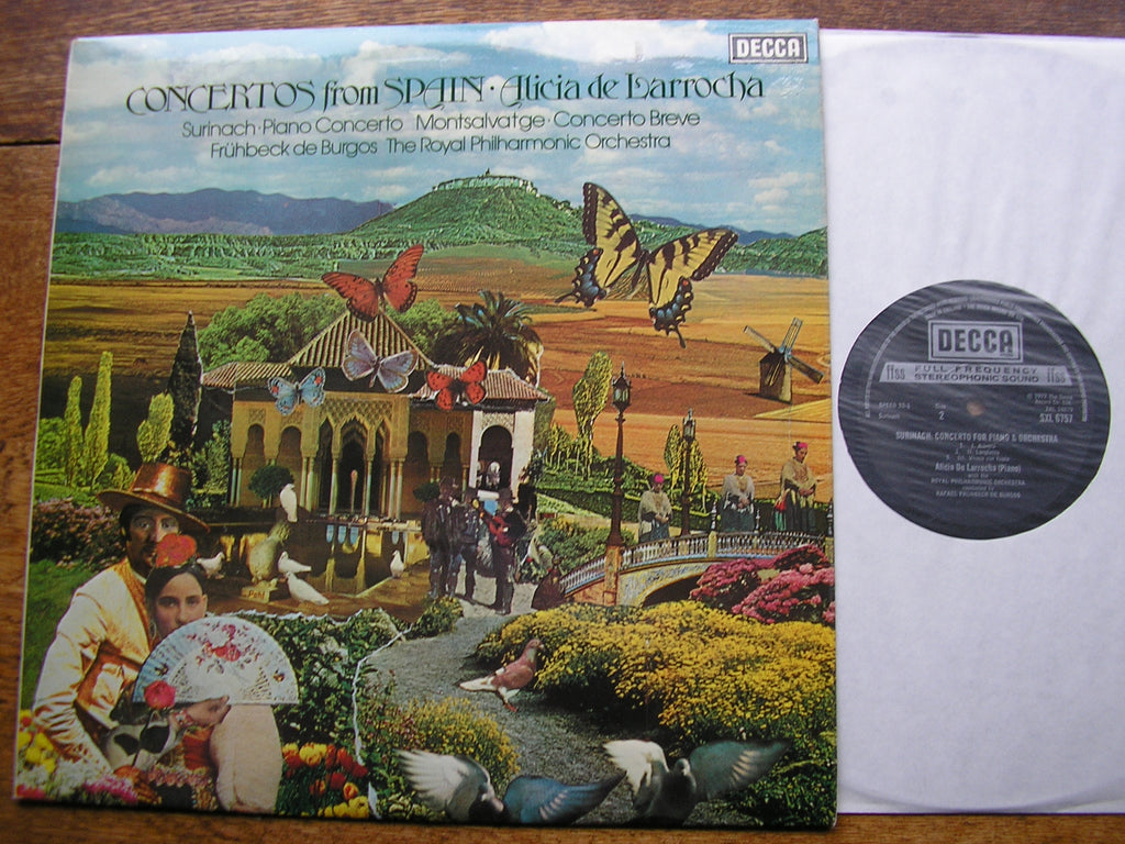 CONCERTOS FROM SPAIN BY MONTSALVAGE & SURINACH   LARROCHA / BURGOS / ROYAL PHILHARMONIC   SXL 6757