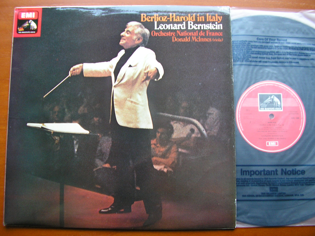 BERLIOZ: HAROLD IN ITALY   McINNES / FRENCH NATIONAL ORCHESTRA / LEONARD BERNSTEIN   ASD 3389