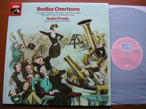 BERLIOZ: OVERTURES ANDRE PREVIN / LONDON SYMPHONY ORCHESTRA  ASD 3212