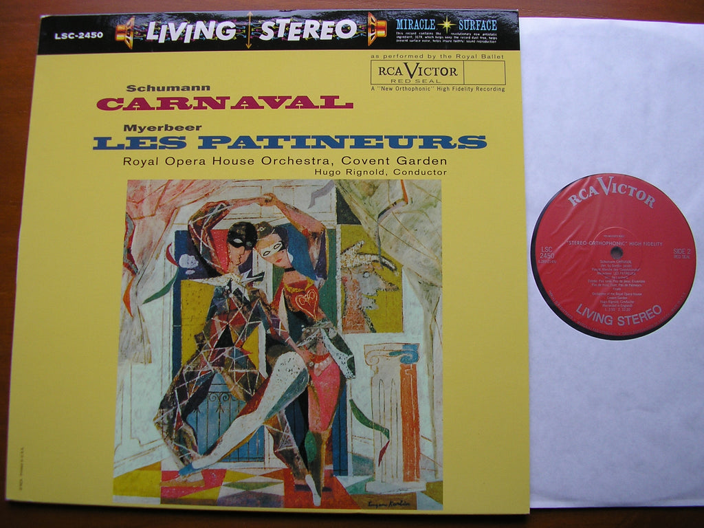 SCHUMANN: CARNAVAL / MEYERBEER: LES PATINEURS    RIGNOLD / ROYAL OPERA HOUSE ORCHESTRA    LSC 2450