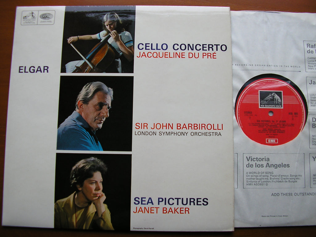 ELGAR: CELLO CONCERTO / SEA PICTURES   DU PRE / BAKER / LONDON SYMPHONY / BARBIROLLI    ASD 655