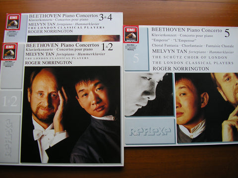BEETHOVEN: THE PIANO CONCERTOS / CHORAL FANTASIA   TAN / LONDON CLASSICAL PLAYERS / NORRINGTON   3 LP SET