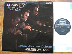 RACHMANINOV: SYMPHONY No. 3 / THE ROCK  WELLER / LONDON PHILHARMONIC  SXL 6720