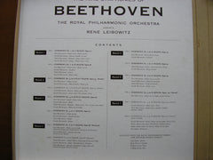 BEETHOVEN: THE COMPLETE SYMPHONIES    LEIBOWITZ / SOLOISTS / ROYAL PHILHARMONIC  RDS 200 - 206
