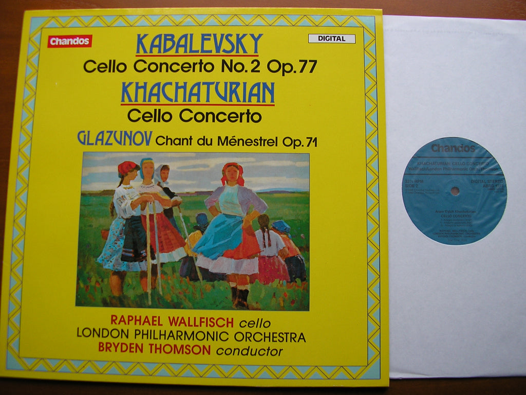 KABALEVSKY: CELLO CONCERTO No. 2 / KHACHATURIAN: CELLO CONCERTO / GLAZUNOV: CHANT DU MENESTREL   WALLFISCH / LONDON PHILHARMONIC / THOMSON   ABRD 1273