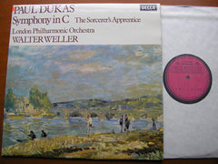 DUKAS: SYMPHONY in C / THE SORCERER'S APPRENTICE    WELLER / LONDON PHILHARMONIC    SXL 6770