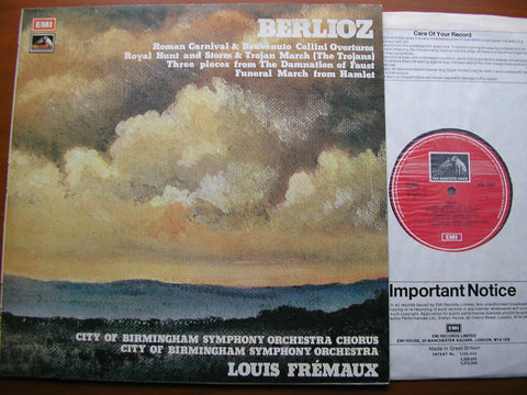 BERLIOZ: ORCHESTRAL WORKS   FREMAUX / CITY OF BIRMINGHAM SYMPHONY   ASD 3080
