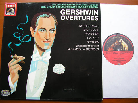 GERSHWIN: OVERTURES / SUITE from 'A Damsel in Distress'   McGLINN / NEW PRINCESS THEATRE ORCHESTRA   EL 270575