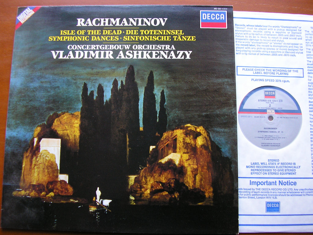 RACHMANINOV: ISLE OF THE DEAD / SYMPHONIC DANCES    ASHKENAZY / CONCERTGEBOUW ORCHESTRA    410 124