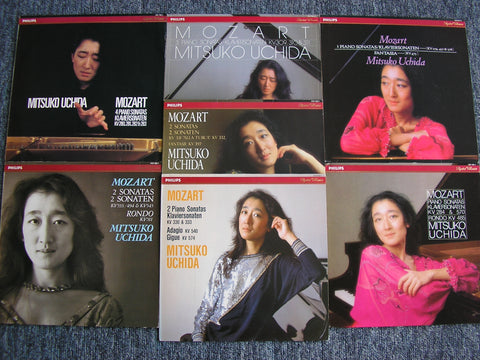 MOZART: THE COMPLETE PIANO SONATAS     MITSUKO UCHIDA    7LP SET