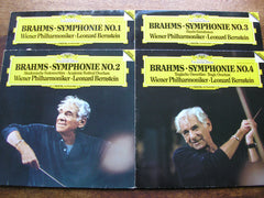 BRAHMS: THE FOUR SYMPHONIES / TWO OVERTURES / HAYDN VARIATIONS    BERNSTEIN / VIENNA PHILHARMONIC   410 081 - 084