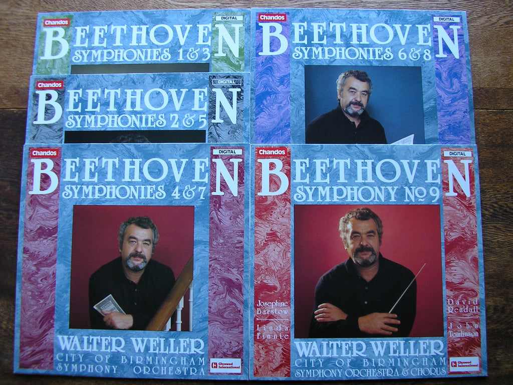 BEETHOVEN: THE NINE SYMPHONIES    WELLER / CITY OF BIRMINGHAM SYMPHONY  ABRD 1389 - 1393