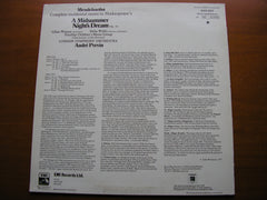 MENDELSSOHN: A MIDSUMMER NIGHT'S DREAM   SOLOISTS / LONDON SYMPHONY ORCHESTRA / PREVIN   ASD 3377