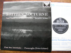BRITTEN: NOCTURNE / FOUR SEA INTERLUDES PETER PEARS / LONDON SYMPHONY / BENJAMIN BRITTEN SXL 2189