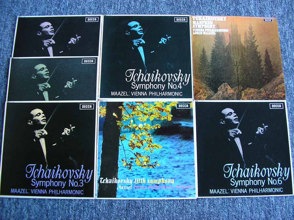 TCHAIKOVSKY: THE COMPLETE SYMPHONIES LORIN MAAZEL / VIENNA PHILHARMONIC ORCHESTRA SXL 6085 / 6157 / 6159 / 6162 / 6163 / 6164 / 6562