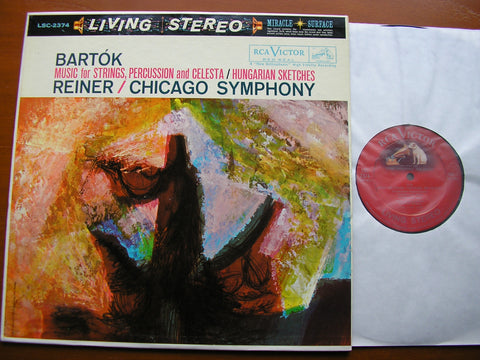 BARTOK: MUSIC FOR STRINGS, PERCUSSION & CELESTA / HUNGARIAN SKETCHES    REINER / CHICAGO SYMPHONY   LSC 2374
