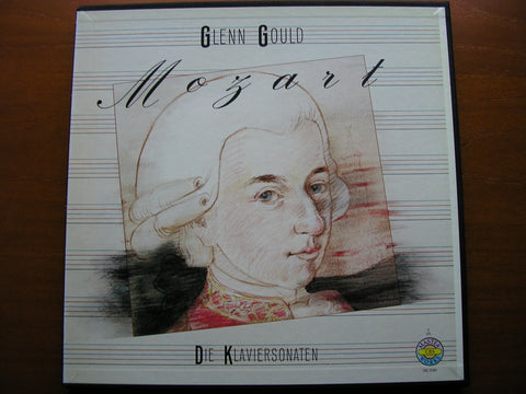 MOZART: THE COMPLETE PIANO SONATAS    GLENN GOULD    5 LP SET   CBS 79501