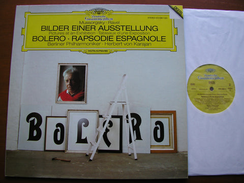 RAVEL: BOLERO / RAPSODIE ESPAGNOLE / MUSSORGSKY: PICTURES AT AN EXHIBITION  KARAJAN / BERLIN PHILHARMONIC  413 588
