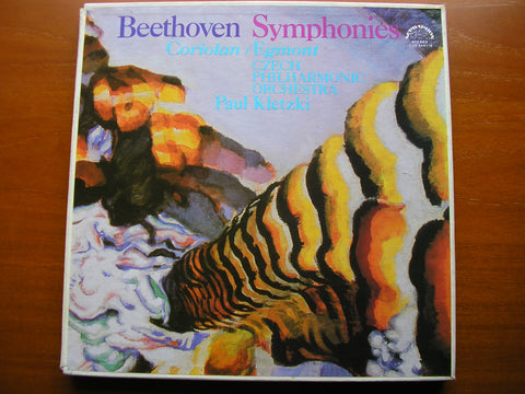 BEETHOVEN: THE COMPLETE SYMPHONIES / TWO OVERTURES  KLETZKI / CZECH PHILHARMONIC  110 2461 - 8