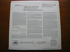 HOLST: THE PLANETS   BOULT / NEW PHILHARMONIA ORCHESTRA   ASD 2301