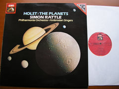 HOLST: THE PLANETS   SIMON RATTLE / PHILHARMONIA   ASD 4047